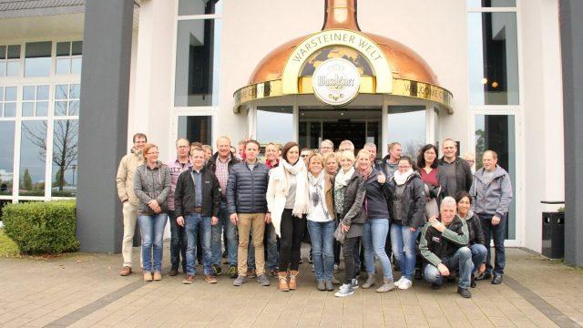 Vorstand besichtigt Warsteiner Brauerei